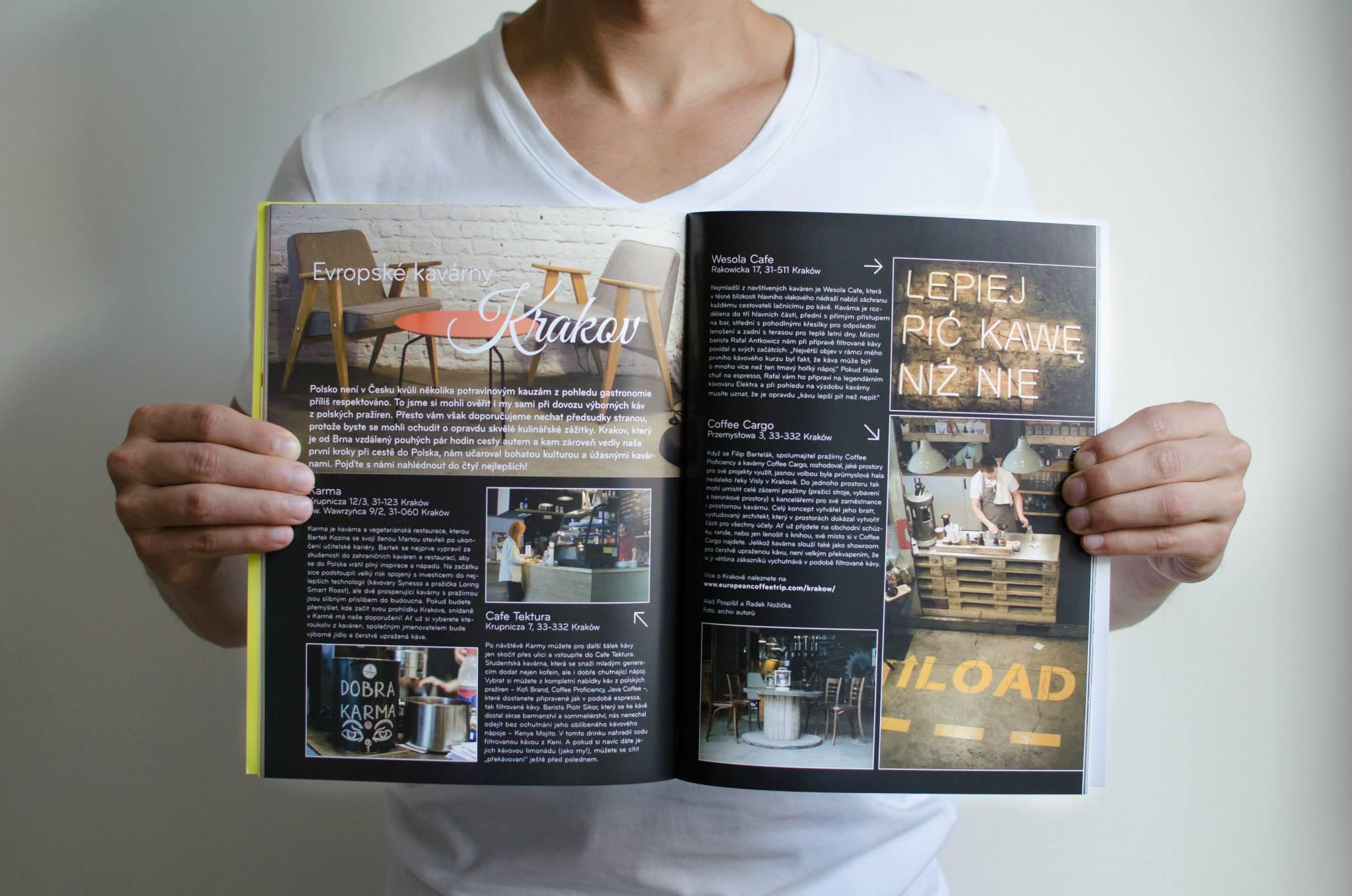 European Coffee Trip několikrát přispěl do vyhlášených magazínů o kávě.